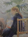 Fillete au chien  1886